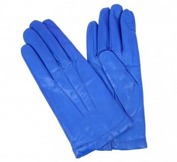 Blaue Lederhandschuhe - SAY