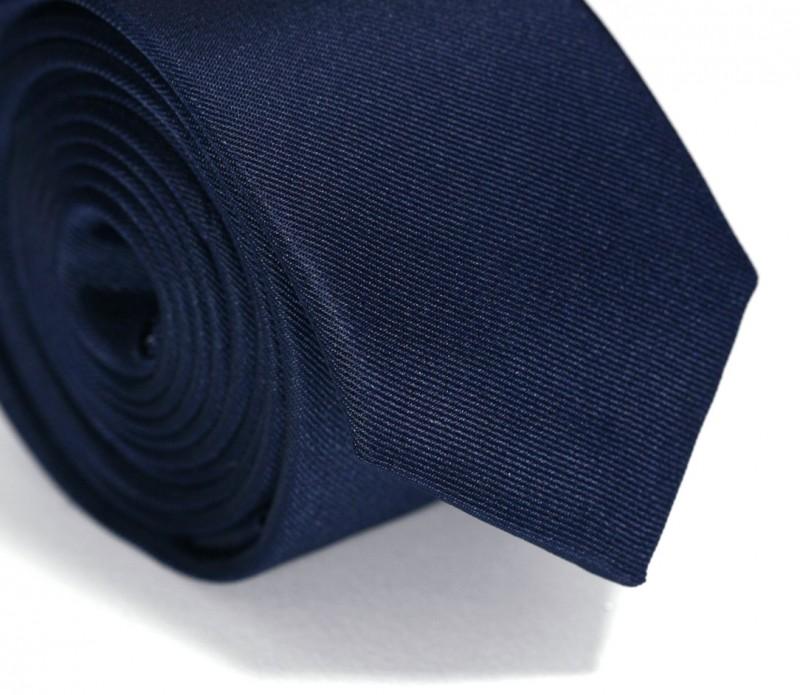 Marineblaue Slim-Krawatte - Siena II