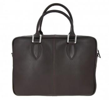 Braune Aktentasche aus Leder - CDG