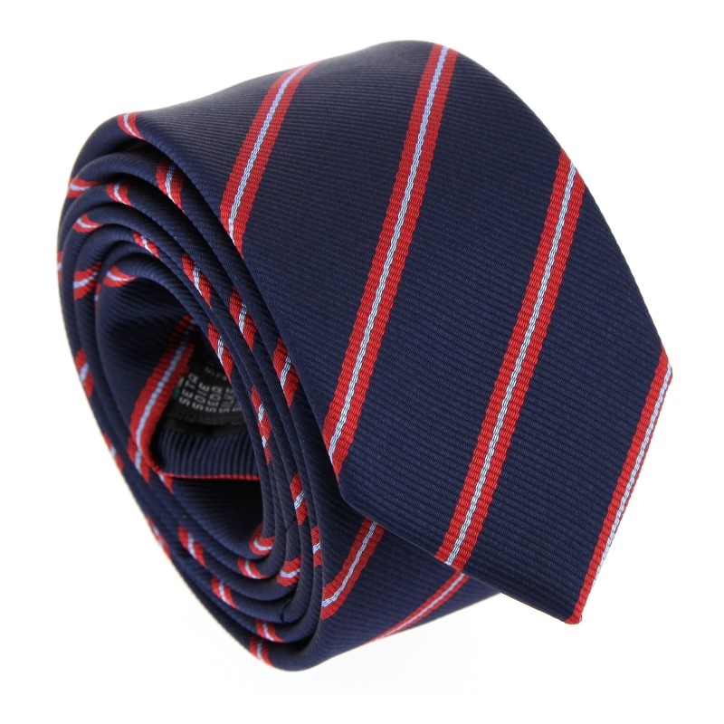 Club-Krawatte in Marineblau und Rot - York