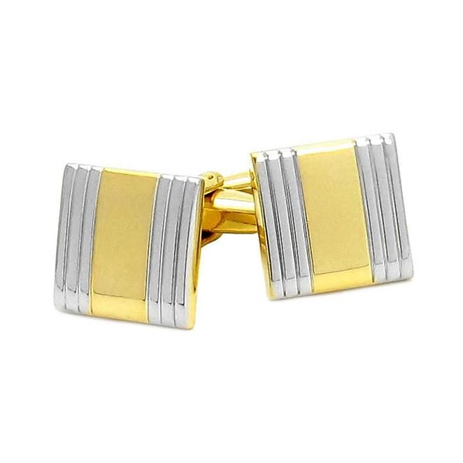 Goldene, rechteckige Manschettenknöpfe - Manhattan IV