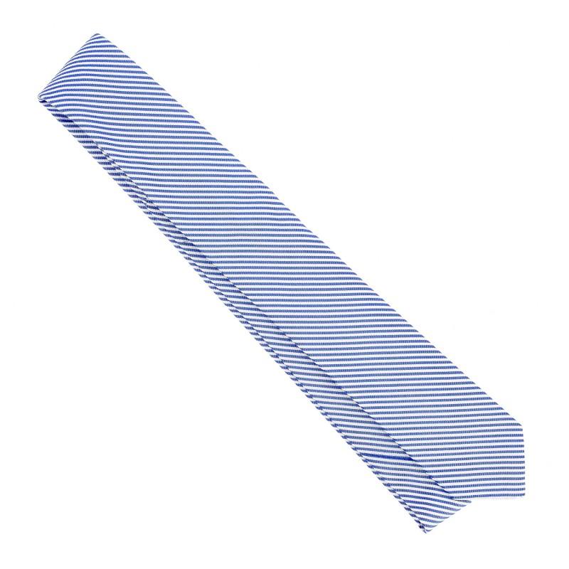 blau wei gestreifte seersucker krawatte m nner krawatten. Black Bedroom Furniture Sets. Home Design Ideas