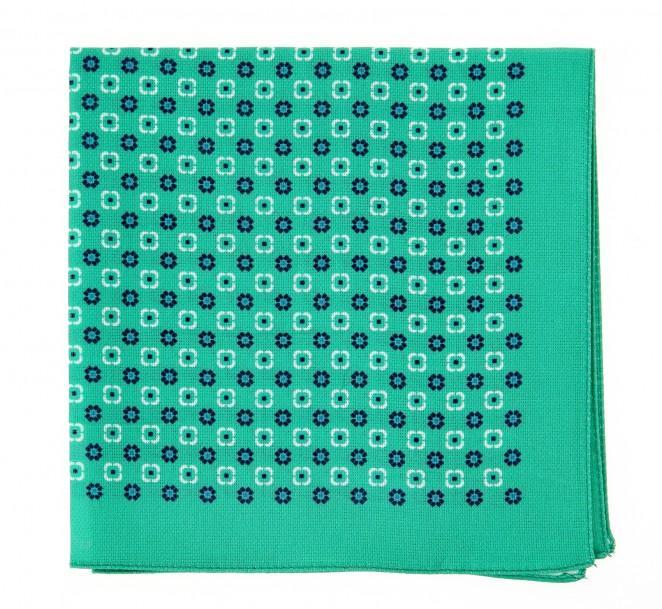 Hugo Boss Grünes Einstecktuch aus Baumwolle