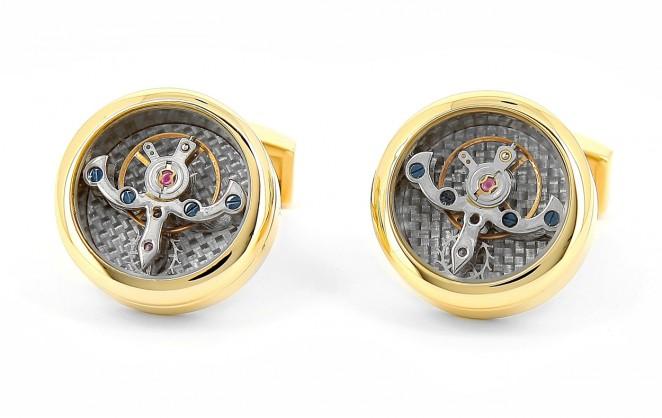 Uhrwerk-Manschettenknöpfe Tourbillon Gold - Genève