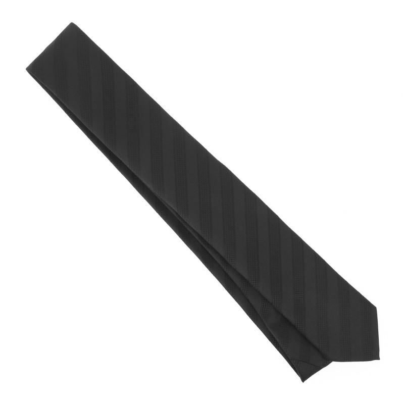 hugo boss krawatte mit grauen und schwarzen streifen das. Black Bedroom Furniture Sets. Home Design Ideas
