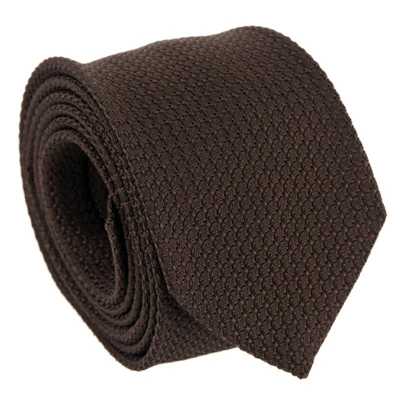 Braune Krawatte aus Grenadinenseide - Grenadines III