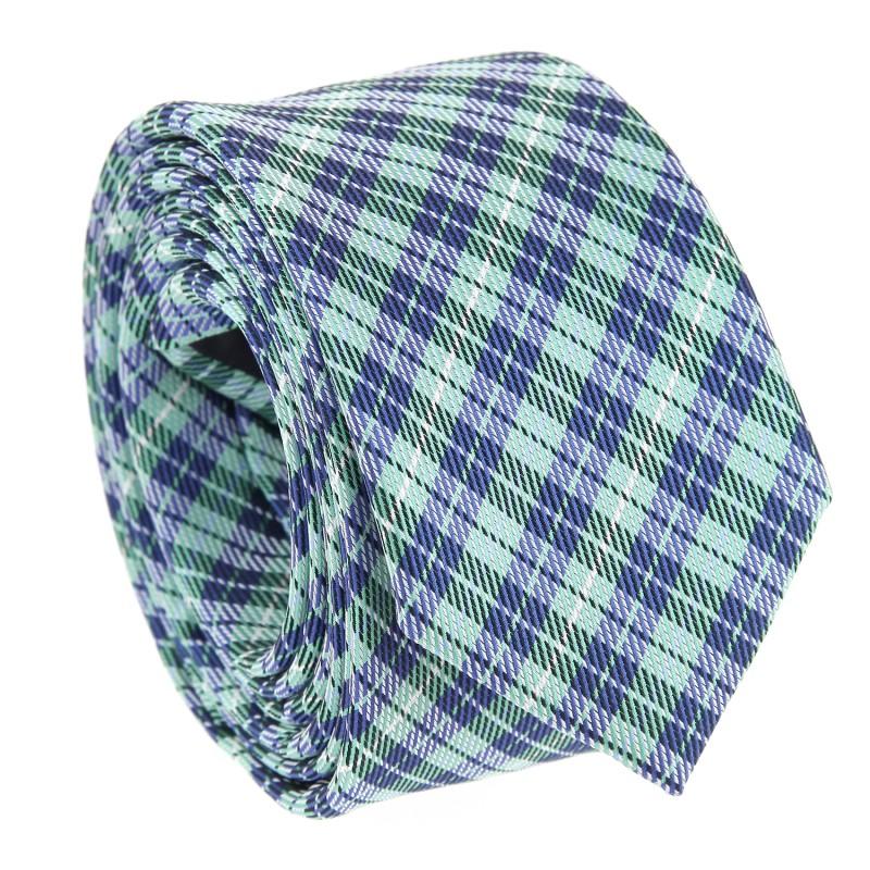 Grüne Slim-Krawatte im Schottenmuster - Crief