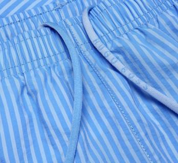 Hugo Boss blaue gestreifte Badeshorts