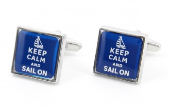 Segeln Manschettenknöpfe - Keep Calm and Sail On