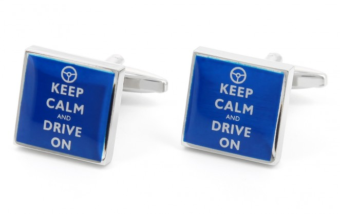 Spruch Manschettenknöpfe - Keep Calm and Drive on