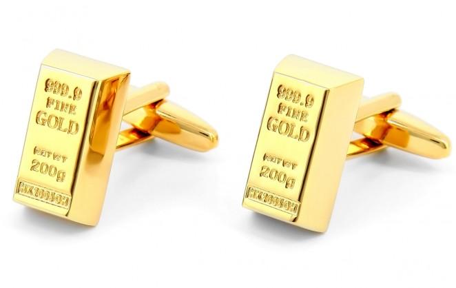 Goldbarren Manschettenknöpfe - Krösus