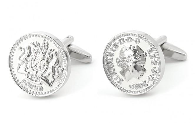 Münzen Manschettenknöpfe - Pound