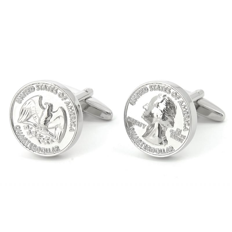 Münzen Manschettenknöpfe - Quarter Dollar