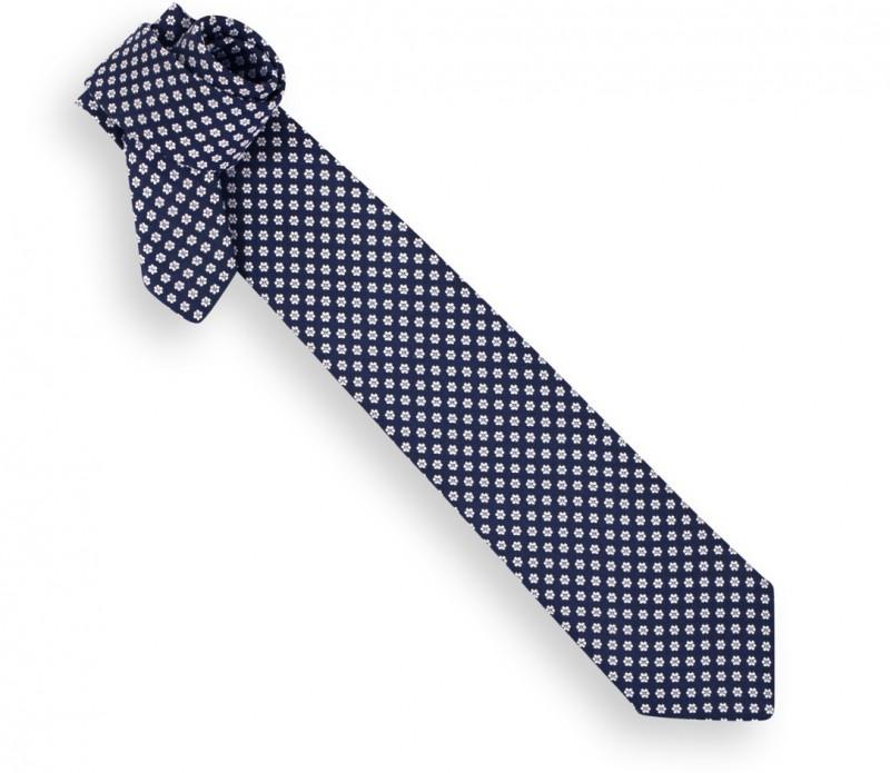 Blaue Krawatte mit Motiv - Vence II