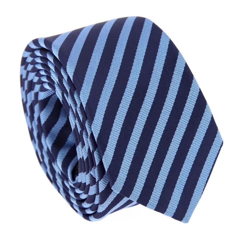 Blau-marineblau gestreifte Krawatte - Brighton