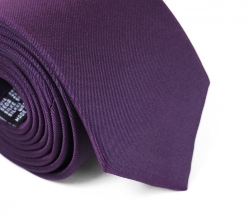 Auberginefarbende Krawatte - Mailand II