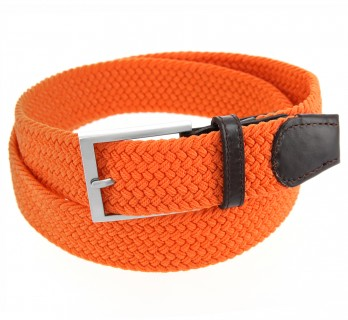 Elastischer Flechtgürtel in Orange - Rob II