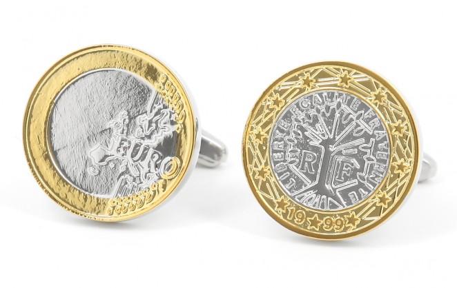 Münzen Manschettenknöpfe - Euro II