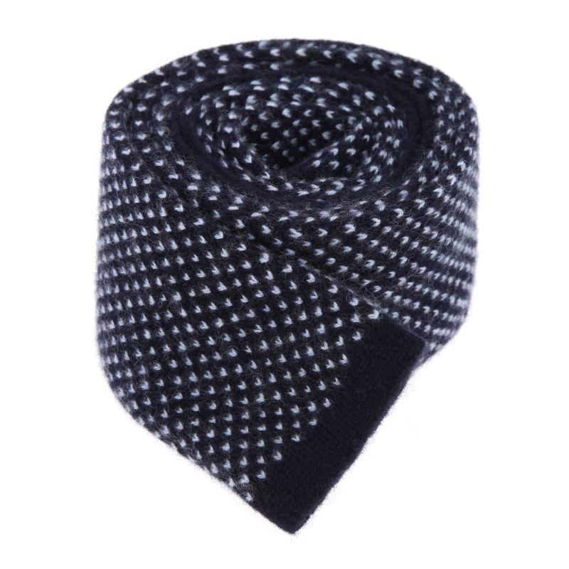Marineblaue-himmelblaue Kaschmir Krawatte - Verona II