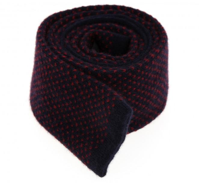 Marineblaue-rote Kaschmir Krawatte - Verona II
