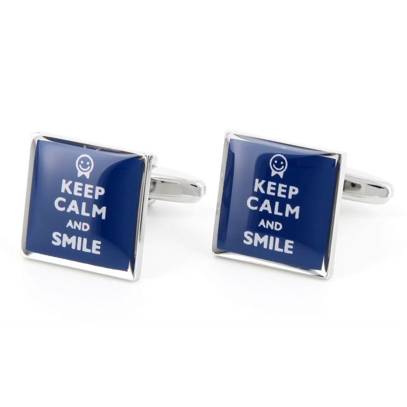 Spruch Manschettenknöpfe - Keep Calm and Smile