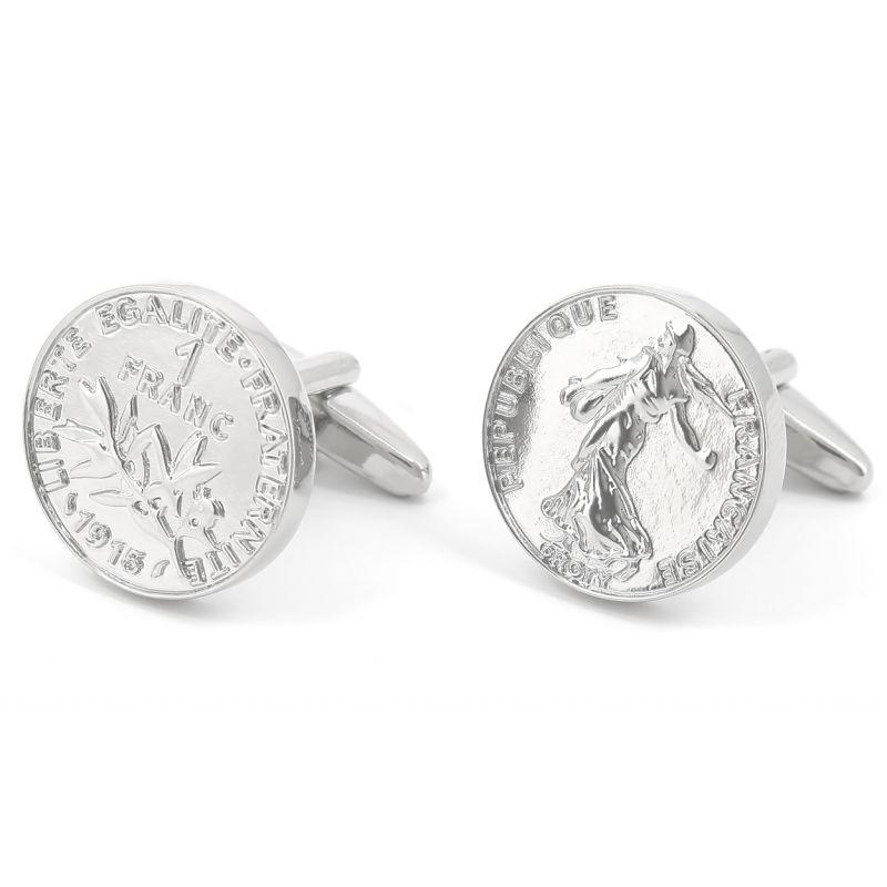 Münzen Manschettenknöpfe - Franc