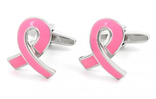 Rosa Manschettenknöpfe - Pink Ribbon