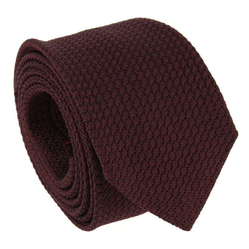 Bordeauxrote Krawatte aus Grenadinen-Seide - Grenadines IV