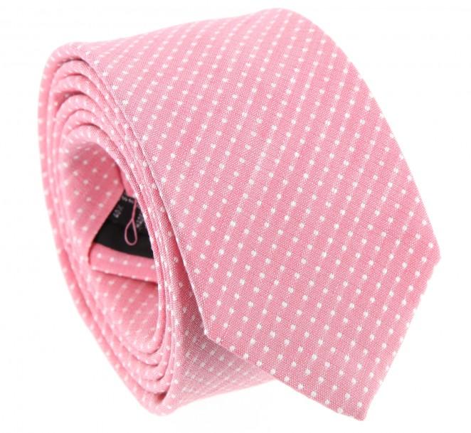 Rosa The Nines Leinen gepunktete Krawatte - Gaeta
