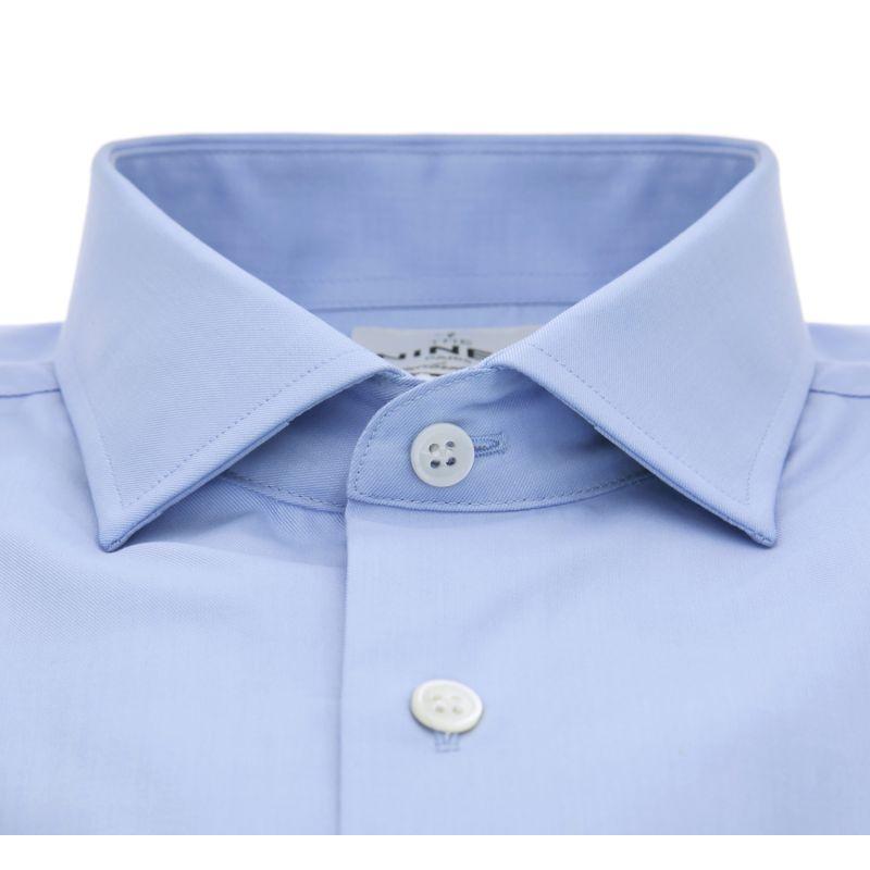 slim fit blaues hemd italienische kragen herren hemden. Black Bedroom Furniture Sets. Home Design Ideas