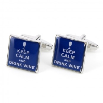 Wein Manschettenknöpfe - Keep Calm and Drink Wine