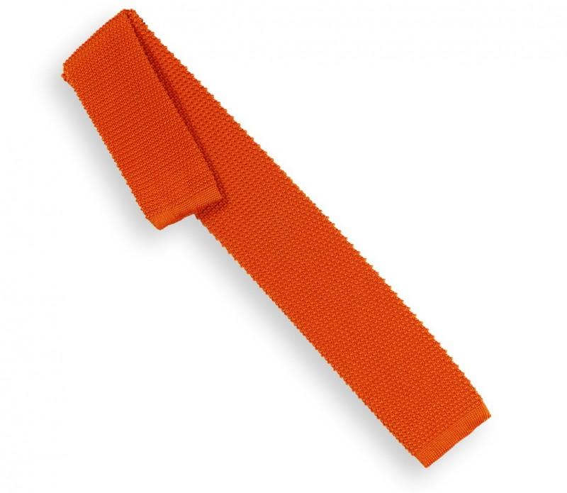 Orange Strickkrawatte - Monza