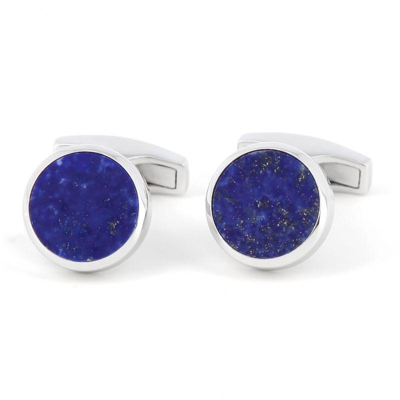 Lapis Lazuli Sterling Silber Manschettenknöpfe - Saint-Honoré