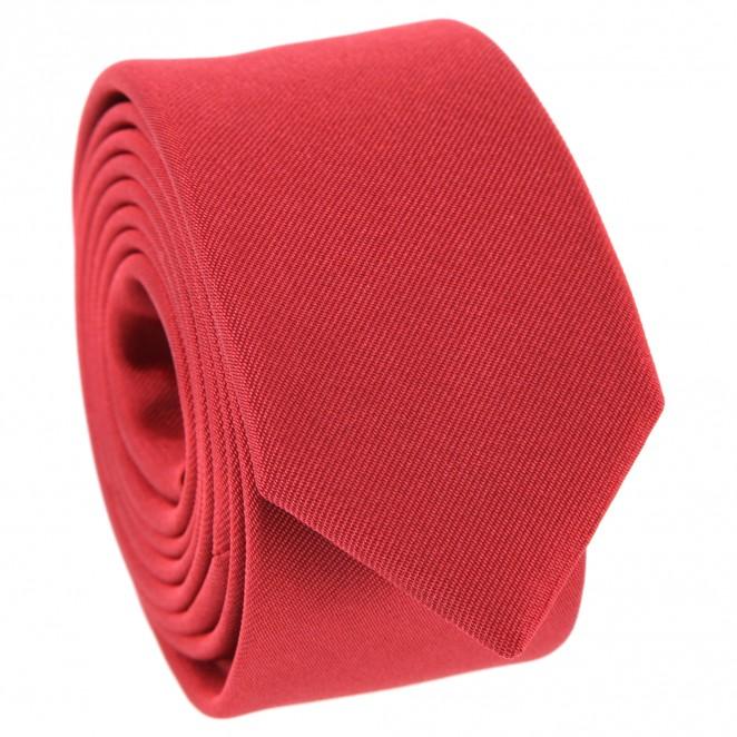 Rote Slim-Krawatte - Sienne