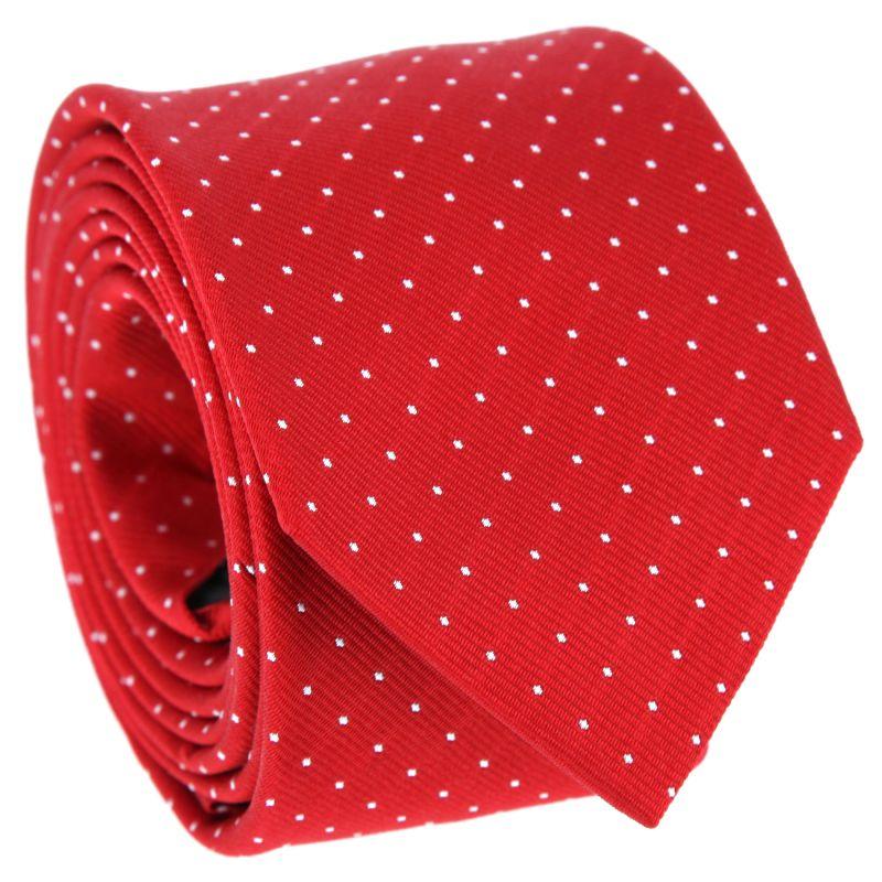 Rot-weiß gepunktete Krawatte - Washington II