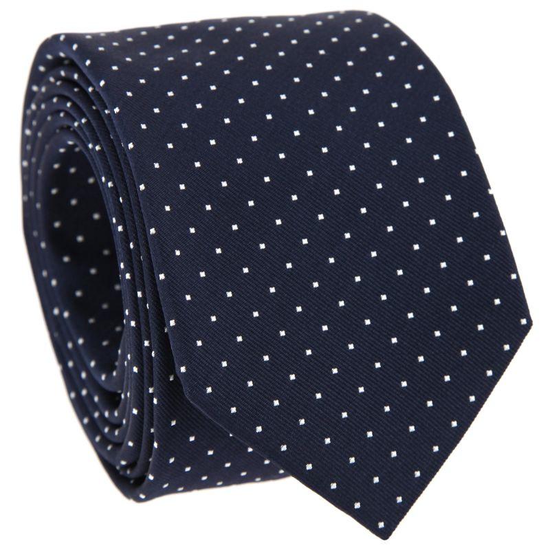 Marineblau-weiß gepunktete Krawatte - Washington II