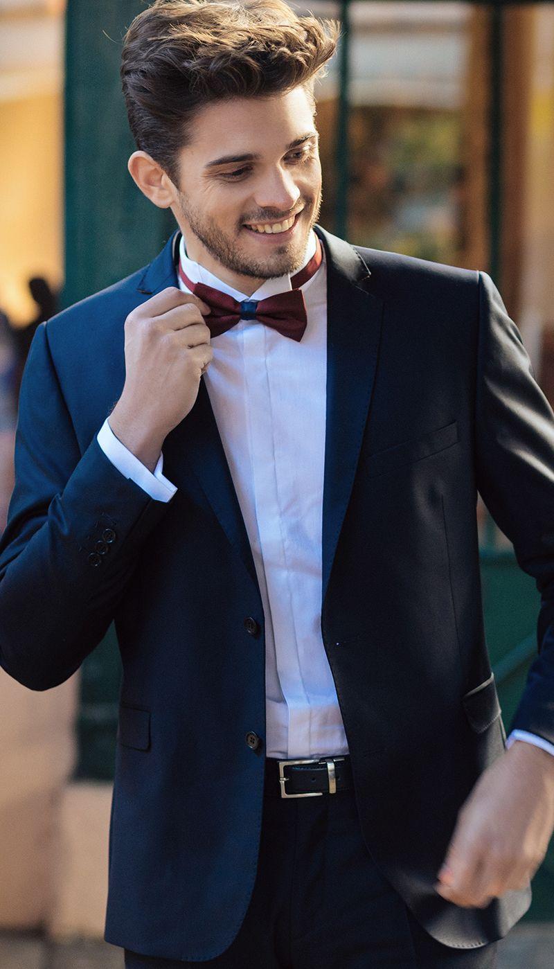 Charmant Hochzeit Marineblauer Anzug Fotos - Brautkleider Ideen ...