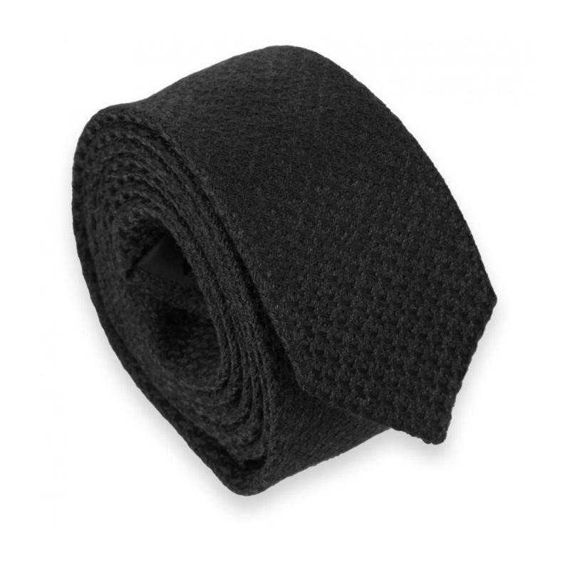 Schwarze Hahnentrittmuster Slim Krawatte - Millport II