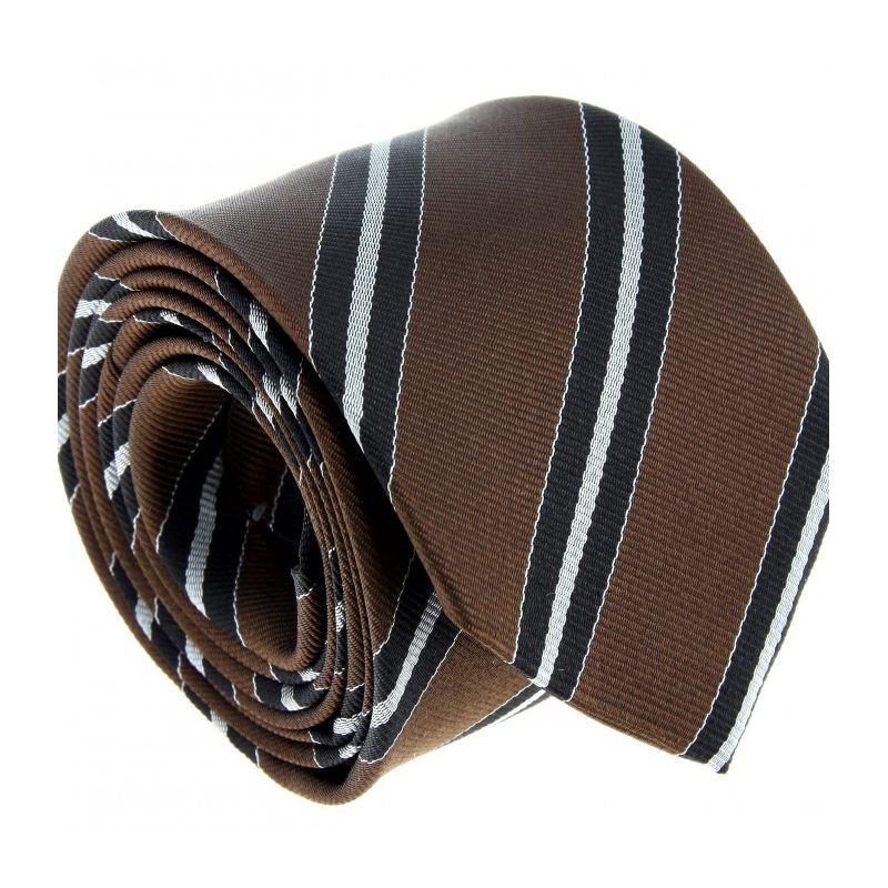 Club-Krawatte in braun, graun und schwarz - York III