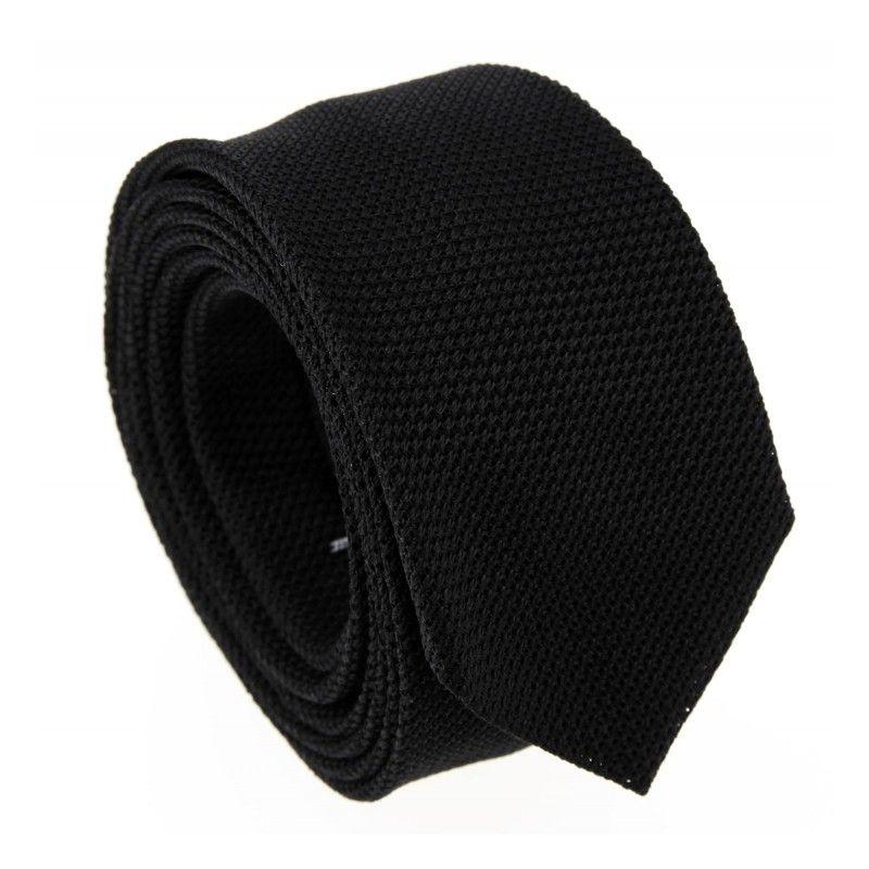Schwarze Slim-Krawatte aus Grenadinenseide - Grenadines V