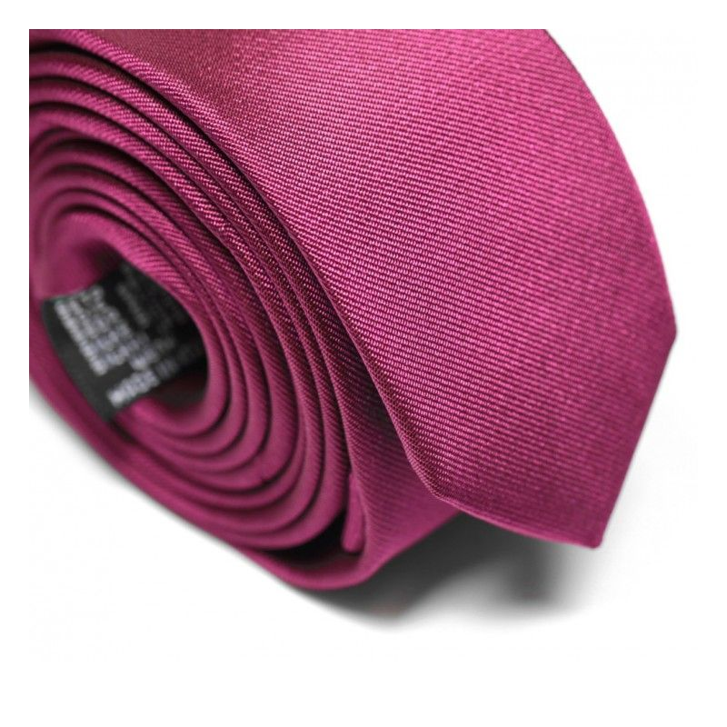 Himbeerfarbene Slim-Krawatte - Sienne