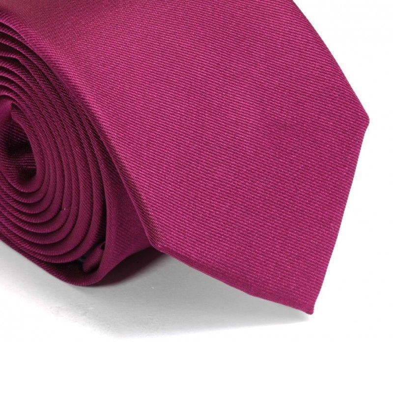 Himbeerfarbene Krawatte - Milan II