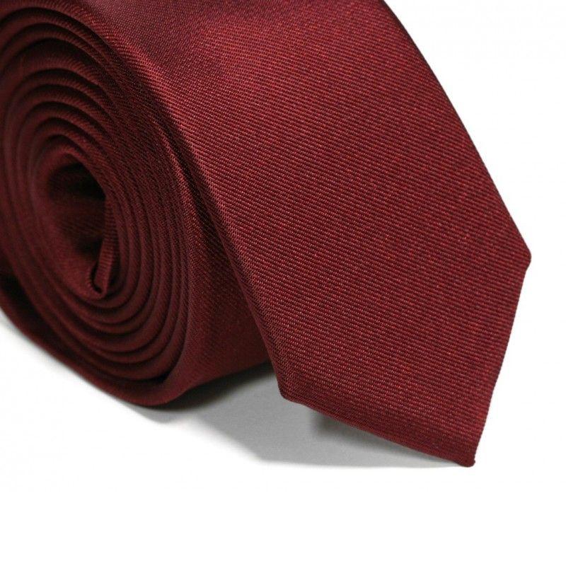 Bordeauxrote Slim-Krawatte - Sienne