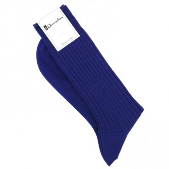 Royalblaue Wollsocken