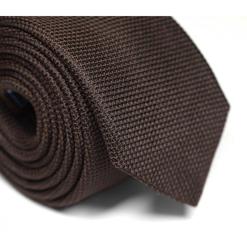 Braune Krawatte aus Grenadinenseide - Grenadines IV