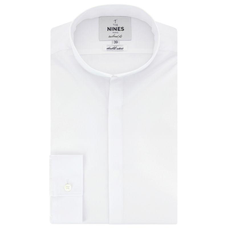 Weißes Hemd mit Umkehrkragen Tailored-fit