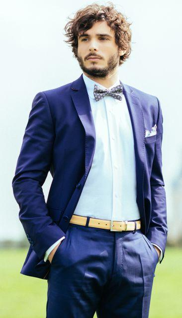 Blauer Mohair Anzug von The Nines
