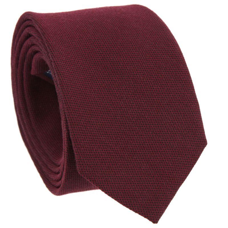 Bordeauxfarbene Krawatte aus geflochtener Seide und Wolle The Nines