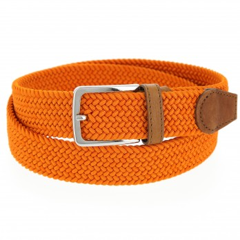 Elastischer Flechtgürtel in orange - Rob III