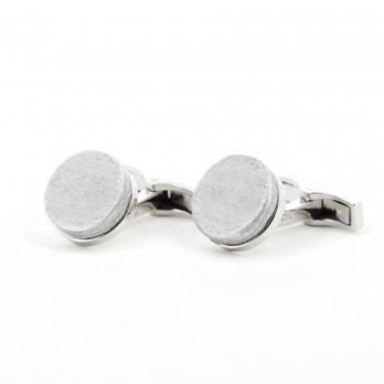 Cufflinks in solid silver and recycled bombs - Ban Naphia